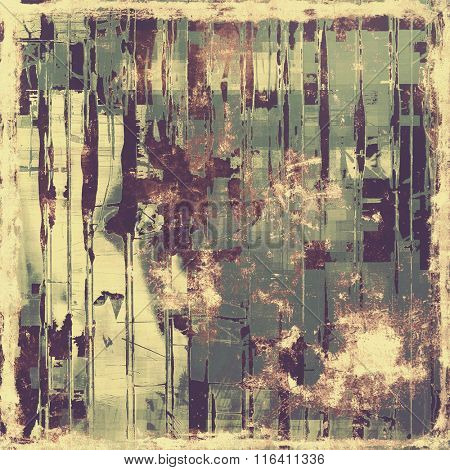 Grunge texture, Vintage background. With different color patterns: yellow (beige); brown; purple (violet); gray