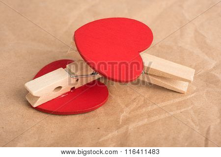Heart-shaped clothes pins
