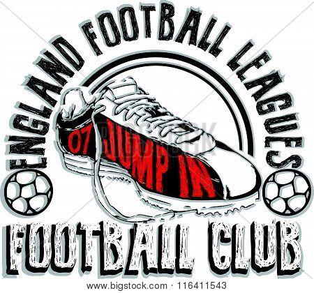 Football logo set, Athletic T-shirt fashion design, Sport Typography, Vintage Print for sportswear a