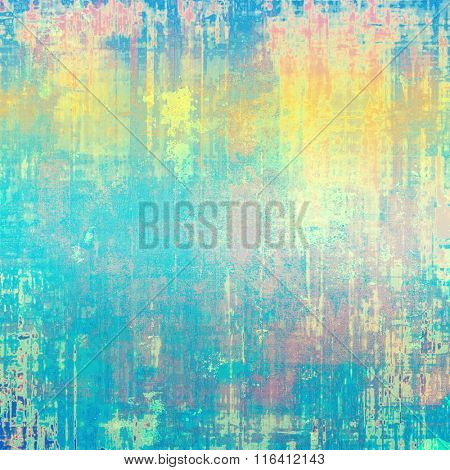 Grunge texture, distressed background. With different color patterns: yellow (beige); brown; pink; blue; cyan