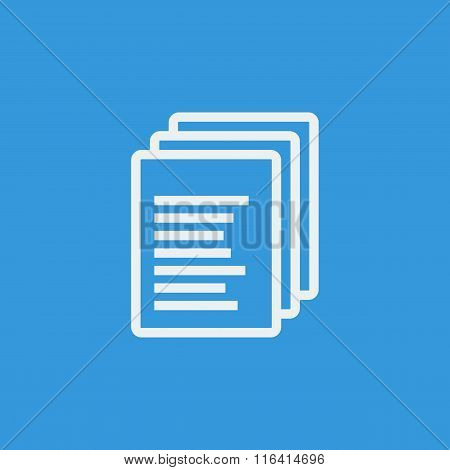 File Icon On Blue Background