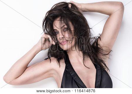 Closeup Portrait Of Sexy Adult Woman.