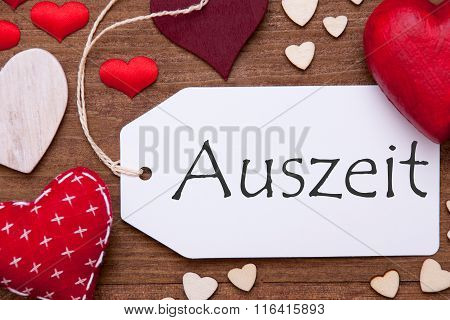 One Label, Red Hearts, Auszeit Means Downtime, Macro