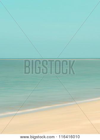 Horizon sea background retro - blur ocean scene - abstract vintage travel concept