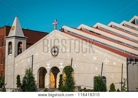 Mexican Church With Step Roof In Montreal