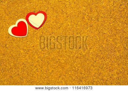 Corkboard  Heart Shapes