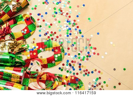 Carnival Party Decorations. Holidays Background