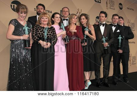 LOS ANGELES - JAN 30:  Downton Abbey at the 22nd Screen Actors Guild Awards at the Shrine Auditorium on January 30, 2016 in Los Angeles, CA