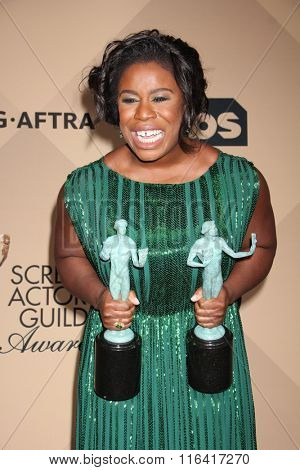 LOS ANGELES - JAN 30:  Uzo Aduba at the 22nd Screen Actors Guild Awards at the Shrine Auditorium on January 30, 2016 in Los Angeles, CA