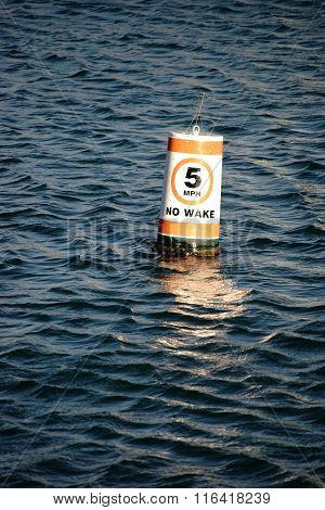 Signal buoy speed limit
