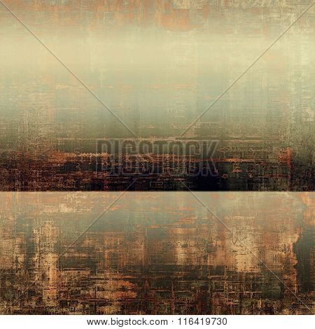 Vintage textured background. With different color patterns: yellow (beige); brown; black; gray; green