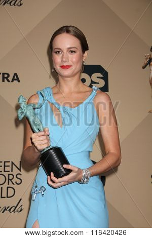 LOS ANGELES - JAN 30:  Brie Larson at the 22nd Screen Actors Guild Awards at the Shrine Auditorium on January 30, 2016 in Los Angeles, CA
