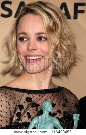 LOS ANGELES - JAN 30:  Rachel McAdams at the 22nd Screen Actors Guild Awards at the Shrine Auditorium on January 30, 2016 in Los Angeles, CA