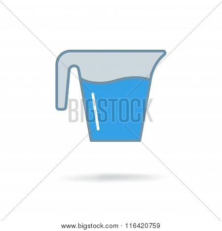Jug glass with water