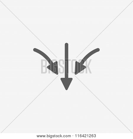 flat arrow icon