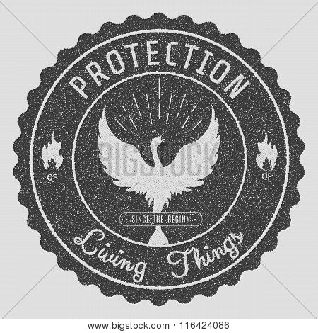 Phoenix Symbol Vintage  Logos, Emblems, Silhouettes And Design Elements. Symbolic Logos With Grunge