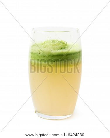 Glass filled with fresh pressed juice