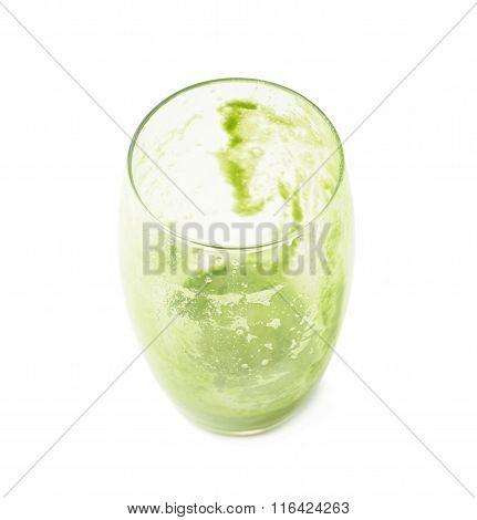 Empty juice glass isolated