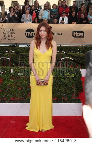 LOS ANGELES - JAN 30:  Hannah Murray at the 22nd Screen Actors Guild Awards at the Shrine Auditorium on January 30, 2016 in Los Angeles, CA