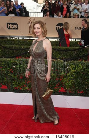 LOS ANGELES - JAN 30:  Sharon Lawrence at the 22nd Screen Actors Guild Awards at the Shrine Auditorium on January 30, 2016 in Los Angeles, CA