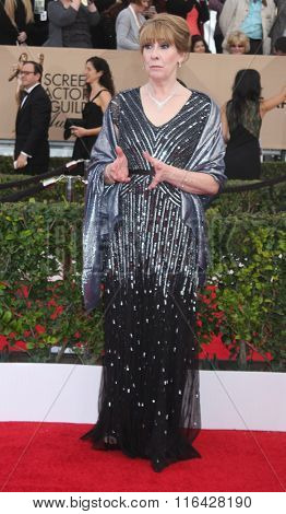 LOS ANGELES - JAN 30:  Phyllis Logan at the 22nd Screen Actors Guild Awards at the Shrine Auditorium on January 30, 2016 in Los Angeles, CA
