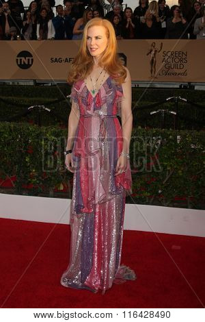 LOS ANGELES - JAN 30:  Nicole Kidman at the 22nd Screen Actors Guild Awards at the Shrine Auditorium on January 30, 2016 in Los Angeles, CA