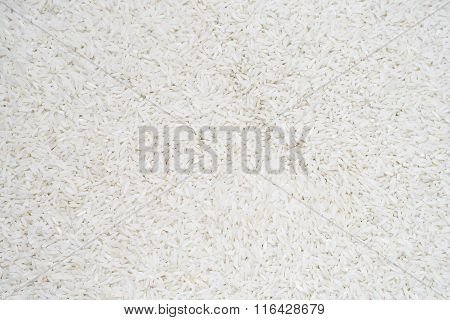 Close Up Of Rice Background, Uncooked Raw Cereals