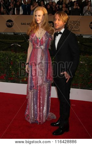 LOS ANGELES - JAN 30:  Nicole Kidman, Keith Urban at the 22nd Screen Actors Guild Awards at the Shrine Auditorium on January 30, 2016 in Los Angeles, CA