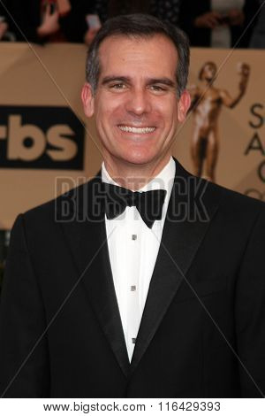 LOS ANGELES - JAN 30:  Eric Garcetti at the 22nd Screen Actors Guild Awards at the Shrine Auditorium on January 30, 2016 in Los Angeles, CA