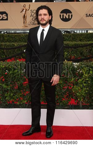 LOS ANGELES - JAN 30:  Kit Harrington at the 22nd Screen Actors Guild Awards at the Shrine Auditorium on January 30, 2016 in Los Angeles, CA