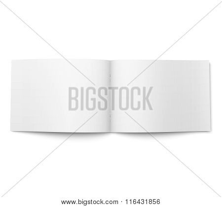Blank magazine template. Wide format.