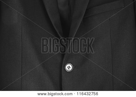 Close up black formal suit