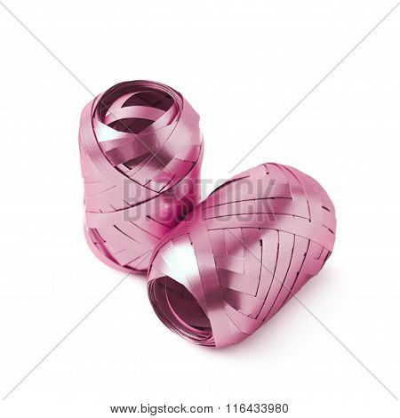 Glossy ribbon reels isolated