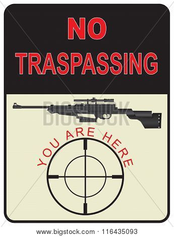 Sign No Trespassing