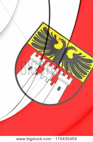 Flag Of Duisburg (north Rhine-westphalia), Germany.