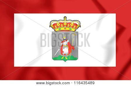 Flag Of Gijon (asturias), Spain.