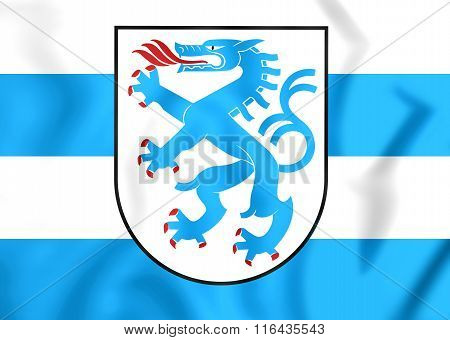 Flag Of Ingolstadt, Germany.