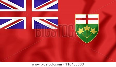 Flag Of Ontario, Canada.
