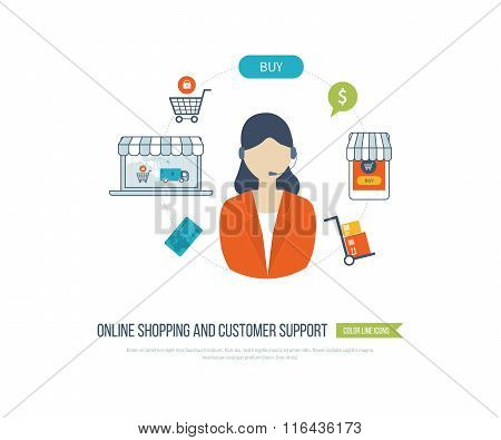 Concepts for customer support, online shopping and mobile marketing.