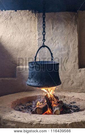 Pot Hanging On A Chain
