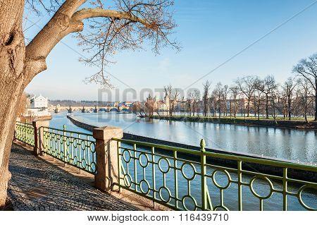 Embankment Of The Vltava River In Prague, Czech Republic