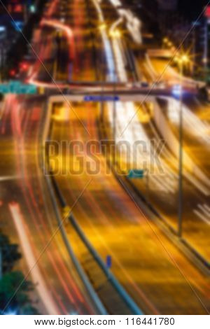 Highway Road With Blured Effect