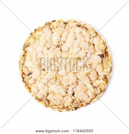 Round diet rice cracker isolated
