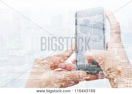 communication technology concept.