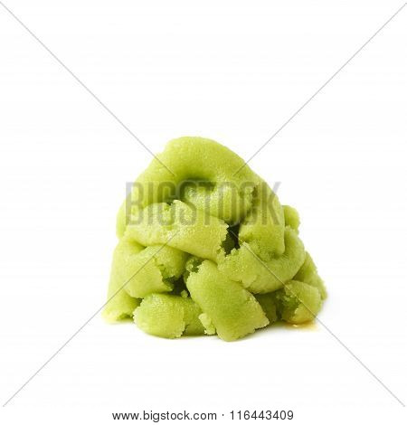 Pile of wasabi paste isolated