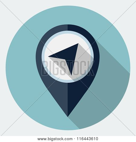 Vector map marker icon