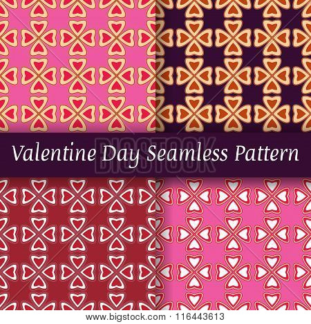 seamless pattern St. Valentine's Day ornament beige pink blue heart seamless pattern background vect