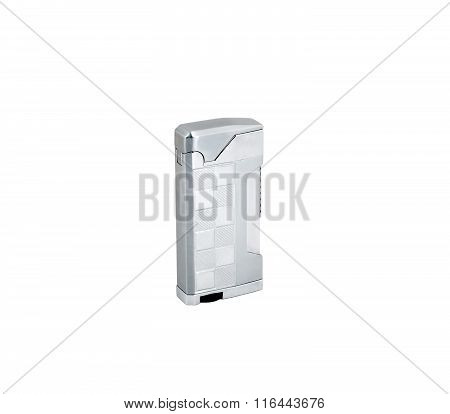 Metal Lighter On White Background. Isolated.