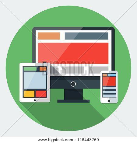Responsive design flat icon
