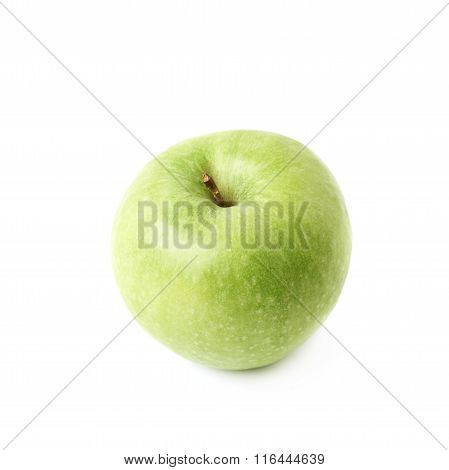 Sour green apple isolated